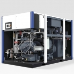 Oil-free two-stage screw compressors