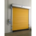 High speed insulated roll doors