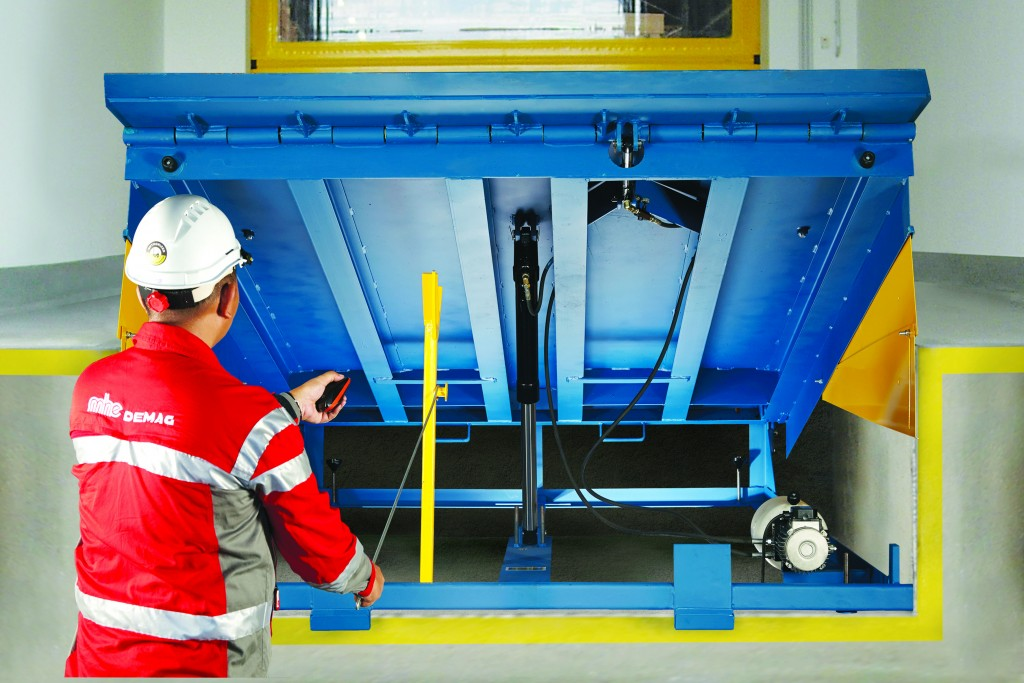 MHE-Demag's GATOR dock leveller - an essential piece in loading bay solutions.