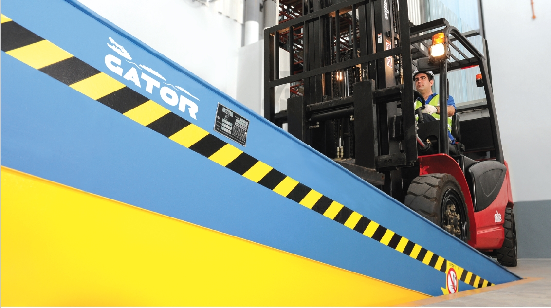 MHE-Demag Australia designed the Gator from scratch to allow up to 20t being carried over the dock leveller.